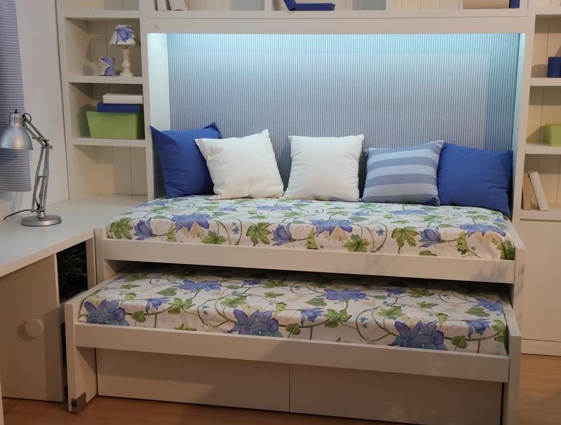 Dormitorios juveniles dormitorio juvenil habitaciones for Medidas camas compactas juveniles