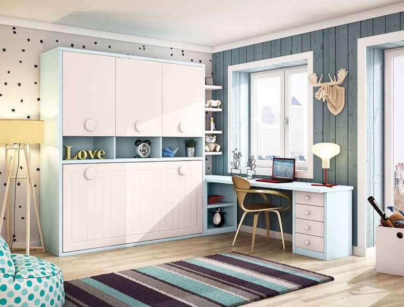 Dormitorios juveniles dormitorio juvenil habitaciones for Mueble juvenil cama abatible
