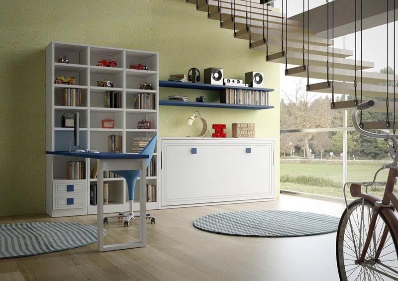 Dormitorios juveniles a medida biblioteca zona de estudio for Dormitorios juveniles a medida