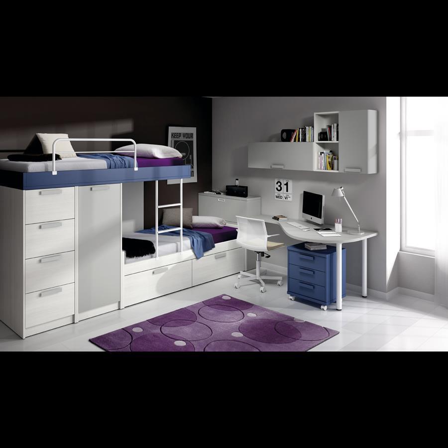 Dormitorios juveniles literas tren dise os - Habitaciones juveniles tren ...