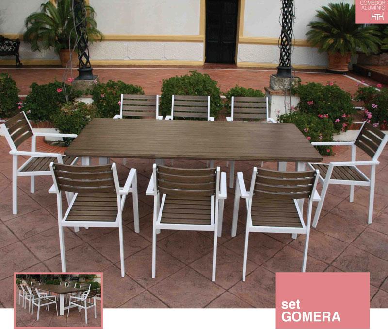 Muebles de jardin y terraza for Muebles de aluminio para jardin