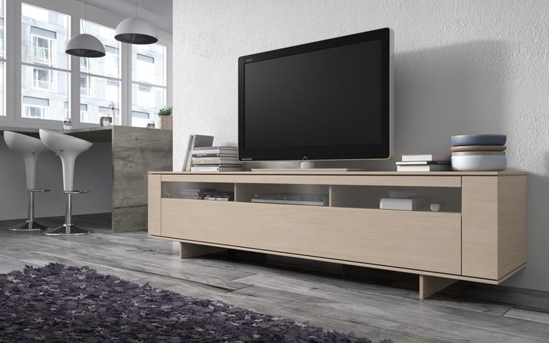 Muebles bajos para salon mueble tv bajo con vitrina - Muebles bajos para salon ...